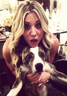 """Kaley Cuoco aka """"Penny"""" is a loving a devoted pit bull advocate.  Love Penny even more now!"""