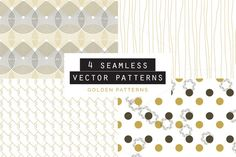 Golden Seamless Pattern set of 4 by Youandigraphics on Graphic Patterns, Graphic Design, Golden Pattern, Shops, Photoshop, Watercolor Effects, Flyer, Simple Lines, Vector Pattern
