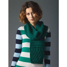 Free knitting pattern for textured scarf. All simple knit and purl patterns. 6 different stitch panels repeated make scarf including triangles, stripes, moss stitch, etc. (Michaels affiliate link)