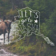 Custom handlettering & illustration by amandamillsdesign.com #lettering #typography #illustration #alaska