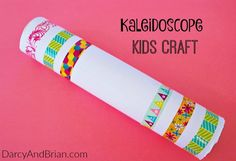 Grab your craft supplies and make this kaleidoscope with your kids!