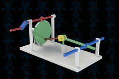 Leonardo Da Vinci's Spatial Slider-Crank Mechanism - STEP / IGES,SketchUp,SOLIDWORKS,Parasolid,Autodesk 3ds…