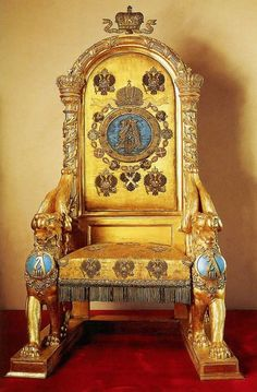 The throne of Tsar Alexander III of Russia.A♥W