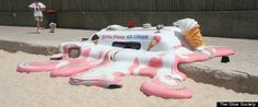 melted ice cream van