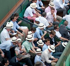 French Open...i want one of those Panama hats!