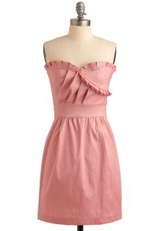 Oh, You Pretty Thing Dress. You've been sharing your signature, sparkling smile and perky personality with the world since you were a wee lass - isn't it time you donned a dress that's every bit as delightful as you? #pink #wedding #modcloth