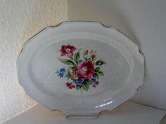 Vintage Rose Platter by jonscreations on Etsy
