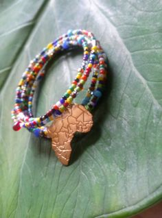 Tribal African seed bead cuff bracelets   layering by Absynia, $15.00