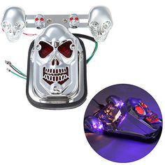 Rear Taillight Skull Turn Signal Brake Tail Light For Harley Davidson Chopper - EXCLUSIVE DEAL! BUY NOW ONLY $20.5