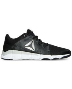 9ec7820259d517 Reebok Men s Trainflex Training Sneakers from Finish Line -  BLACK WHITE PEWTER GREY 13