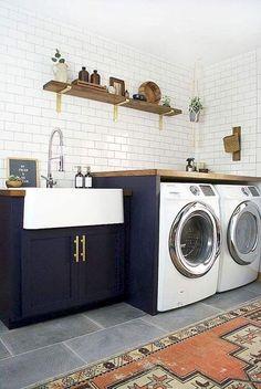 Nice 80 Small Farmhouse Laundry Room Decor Ideas  #decor #farmhouse #Laundry #room