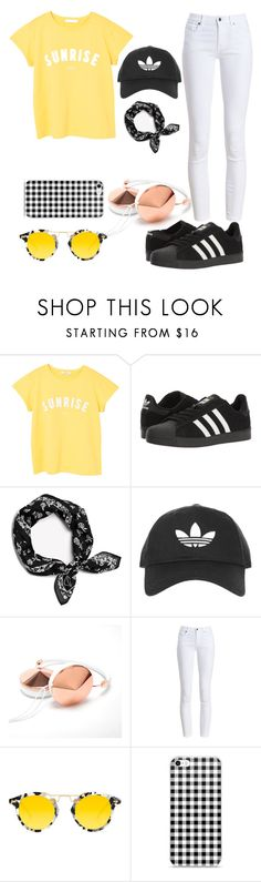"""""""Summertime sunshine"""" by brickell ❤ liked on Polyvore featuring MANGO, adidas, rag & bone, Topshop, Barbour and Krewe"""