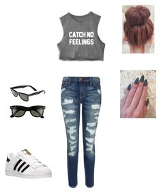 Modern Chick by basicbird on Polyvore featuring polyvore fashion style Current/Elliott adidas Ray-Ban modern clothing