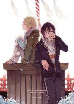 Noragami--Yato and Yukine