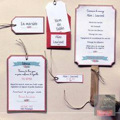 Papeterie de mariage DIY - Thème champêtre chic - de Mains Et Merveilles Décoration  www.mainsetmerveillesdeco.fr