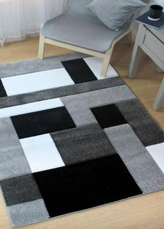 Buy Cosmos Black/Grey Rugs from with Free UK Delivery. Affordable Rugs Online- The Cosmos Black & Grey Rug is designed exclusively in Britain by Flair & features a contemporary design for modern interior expression. Plush Carpet, Diy Carpet, Rugs On Carpet, Sisal Carpet, Cheap Carpet, Room Rugs, Rugs In Living Room, Carpet To Tile Transition, Black And Grey Rugs