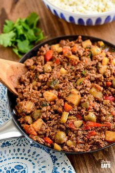 Cuban Beef Picadillo - a delicious hearty ground beef Cuban inspired recipe with flavoursome spices, potatoes, vegetables, olives and sultanas.#Cuban #picadillo #olives #beef #slimmingworld #weightwatchers #glutenfree #dairyfree