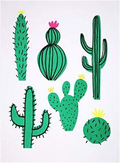 9199cef3a9cf Meri Meri Cactus 2-Pack Art Prints