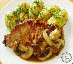 "Pork chops with mushrooms ""Rebierko so šampiňónmi"" • bonvivani.sk (Slovak language)"