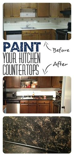 Little Brick Home: Painting Laminate Countertops