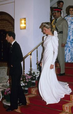 Prince Charles and Princess Diana on their visit's abroad