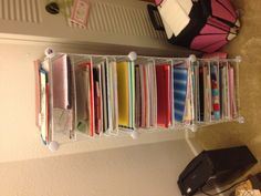 DIY Scrapbooking Paper Shelves