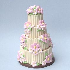 Blossom tower wedding cake by Blue Kitty Miniatures, via Flickr