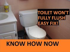 Toilet Not Clogged But Not Flushing Properly Clogged Toilet, Flush Toilet, Countertop Paint Kit, What To Use, Home Hacks, Cleaning Hacks, Clogs, Household, Youtube