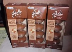 Glade Scented Oil Candle Refills Toasted Marshmallow 12 Candles 3 Packages New