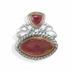 Two Tone Rough-Cut Ruby Slide        Price: $42.98