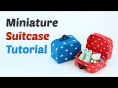 Miniature doll suitcase tutorial - that open and close - Dollhouse DIY - YouTube