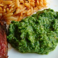 """Chef John's Almond Arugula PestoI """"Quick, easy and now my favorite arugula recipe. We've had this on burgers, steak and pasta."""""""