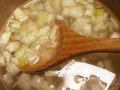 喉風邪に効くニンニク生姜ネギスープの画像