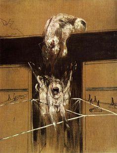 Francis Bacon, Fragment pour une crucifixion (1950).  Stedelijk Van Abbemuseum, Eindhoven.
