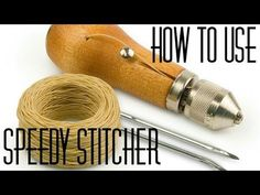 The Speedy Stitcher Sewing Awl can be used when a sewing machine is not available or practical. Here we will sew up some webbing on a sailboat's tack corner ...