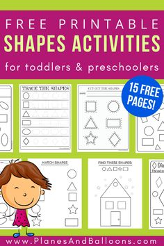 Free printable shapes worksheets for toddlers and preschoolers. Preschool shapes activities such as find and color, tracing shapes and shapes coloring pages. printables for toddlers Free printable shapes worksheets for toddlers and preschoolers Shape Worksheets For Preschool, Shapes Worksheets, Preschool Shapes, Preschool Learning Activities, Free Preschool, Preschool Printables, Preschool Lessons, Toddler Preschool, Preschool Curriculum