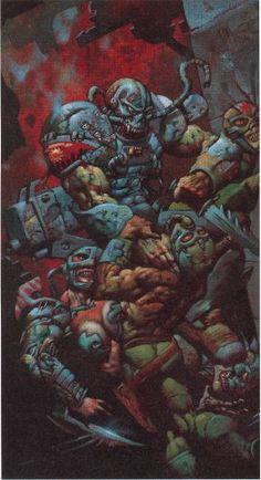 Simon Bisley Simon Bisley, Mutant Chronicles, Jordi Bernet, Heavy Metal Art, 70s Sci Fi Art, Sketches Tutorial, Fantasy Illustration, Pulp Art, Dark Fantasy Art