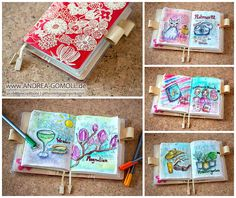 Creative Creations by Andrea Gomoll | Hobonichi Planner daily Pages – Flip Through April 2015 | http://andrea-gomoll.de