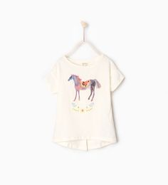Image 1 of Appliqué horse T-shirt from Zara
