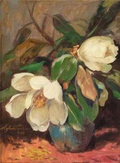 Magnolias by Turkish Painter Ayhan Türker