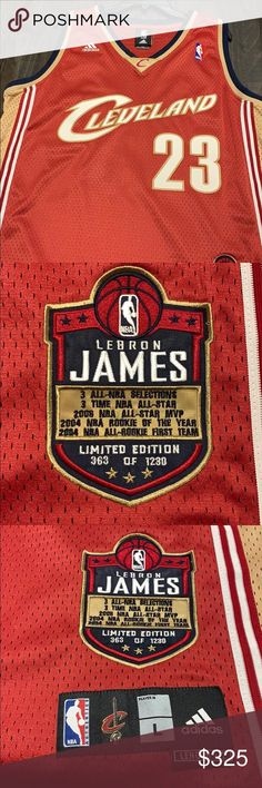 29d7f410c LeBron James Cleveland Cavaliers Jersey Large length Authentic NBA Adidas  Jersey Limited Edition 363 of 1230 adidas Shirts Tank Tops