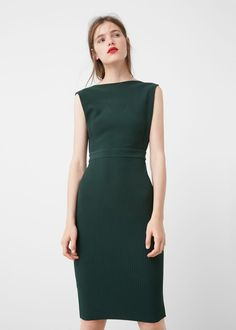 Tailored ribbed dress - Dresses for Woman | MANGO USA