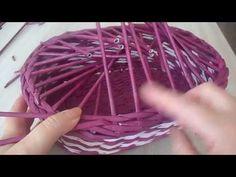 Плетение из газетных трубочек Простой узор - YouTube