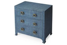 Transitional Fabric-Covered Dresser