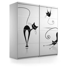 """Naklejki na szafę PAX IKEA. Wymiary szafy: 200 x 66 x 236 cm.Wzór z serii """"Pokój nastolatka""""."""