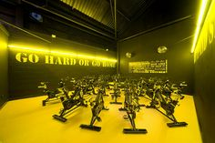 Gym Interior by NJSR Architects, via Flickr paint quotes in wall