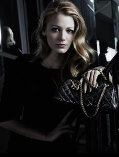 Blake Lively by Karl Lagerfeld for Chanel Mademoiselle Handbag 2011 Campaign