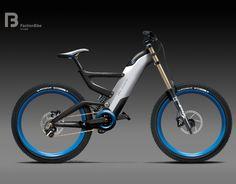 DH bike concept sketch by Faction Bike Studio , via Behance