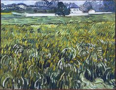 Wheat Field at Auvers with White House, 1890. Vincent van Gogh