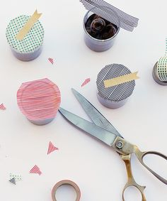Party favors with washi tape toppers. #targetstyle #targetgoesglam